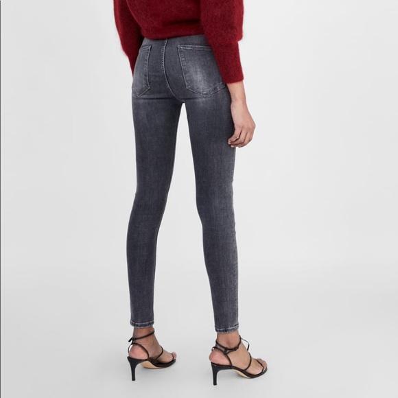 d632126e ZW Premium High Waist Skinny Jeans in Powder Gray NWT